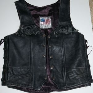 Genuine Leather  Motorcycle Biker Vest
